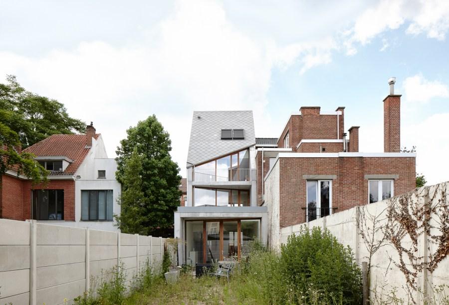 Tuin en achtergevel stadswoning Sint-Amandsberg