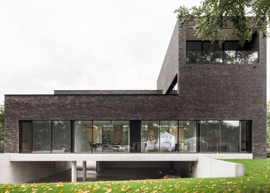abscis architecten notariaat exterieur verzonken parking