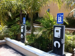 These are Blink EV Chargers