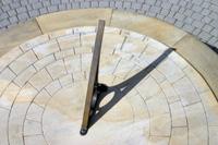 Rustic stone sundial