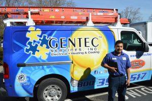 Gentec electrical service truck in pleasanton