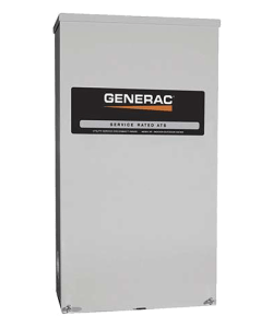 Automatic backup generator transfer switch