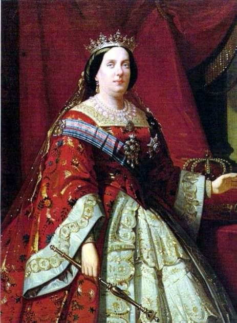 Isabel II portando el cetro en el que se basó la ejecución del nuevo