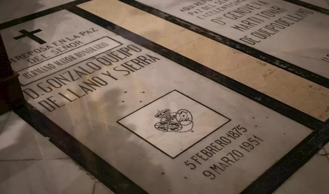 El Gobierno sociocomunista de Sánchez afirma que sacará los restos de Queipo de Llano de  la basílica de la Macarena