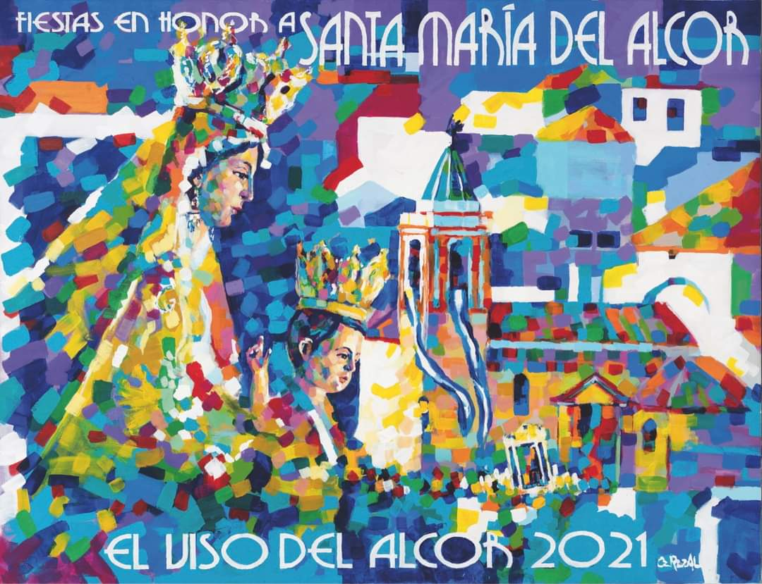 """""""Luz y color para la salvación"""": Así es el espectacular cartel de José Cerezal para Santa María del Alcor dedicado a Nuria Barrera"""