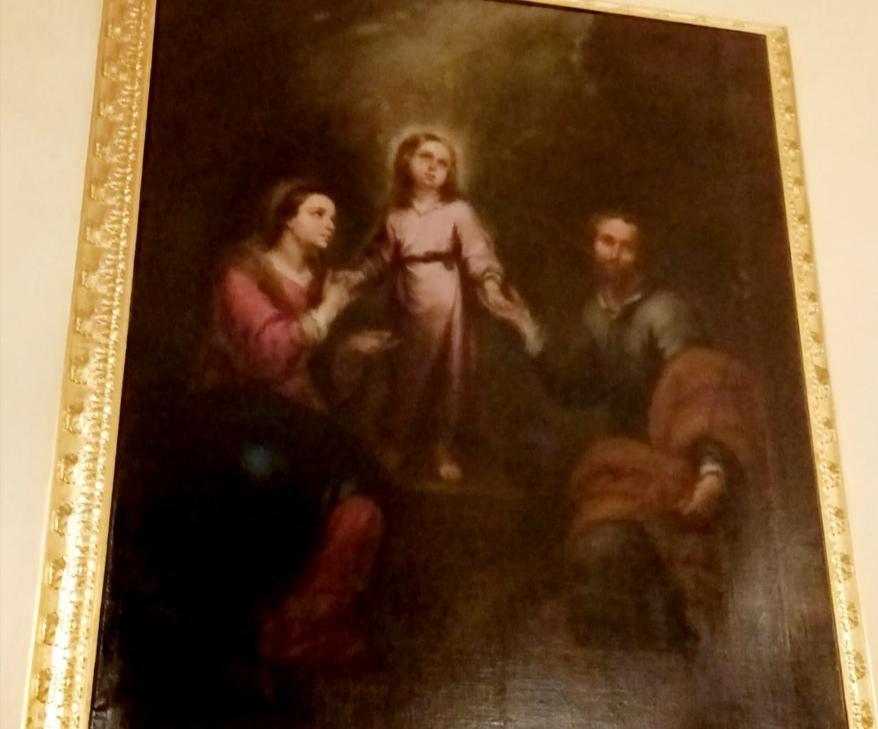 Jesús Despojado culmina la restauración del cuadro de la Sagrada Familia