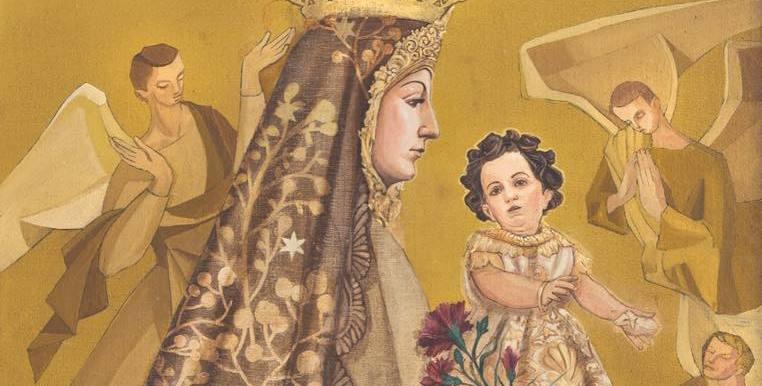 La Virgen de la Fuensanta, protagonista de la última obra de Jesús Zurita