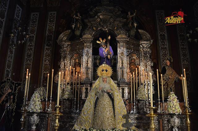 El majestuoso altar de Veneración a la Virgen de la Merced de Pasión, en imágenes