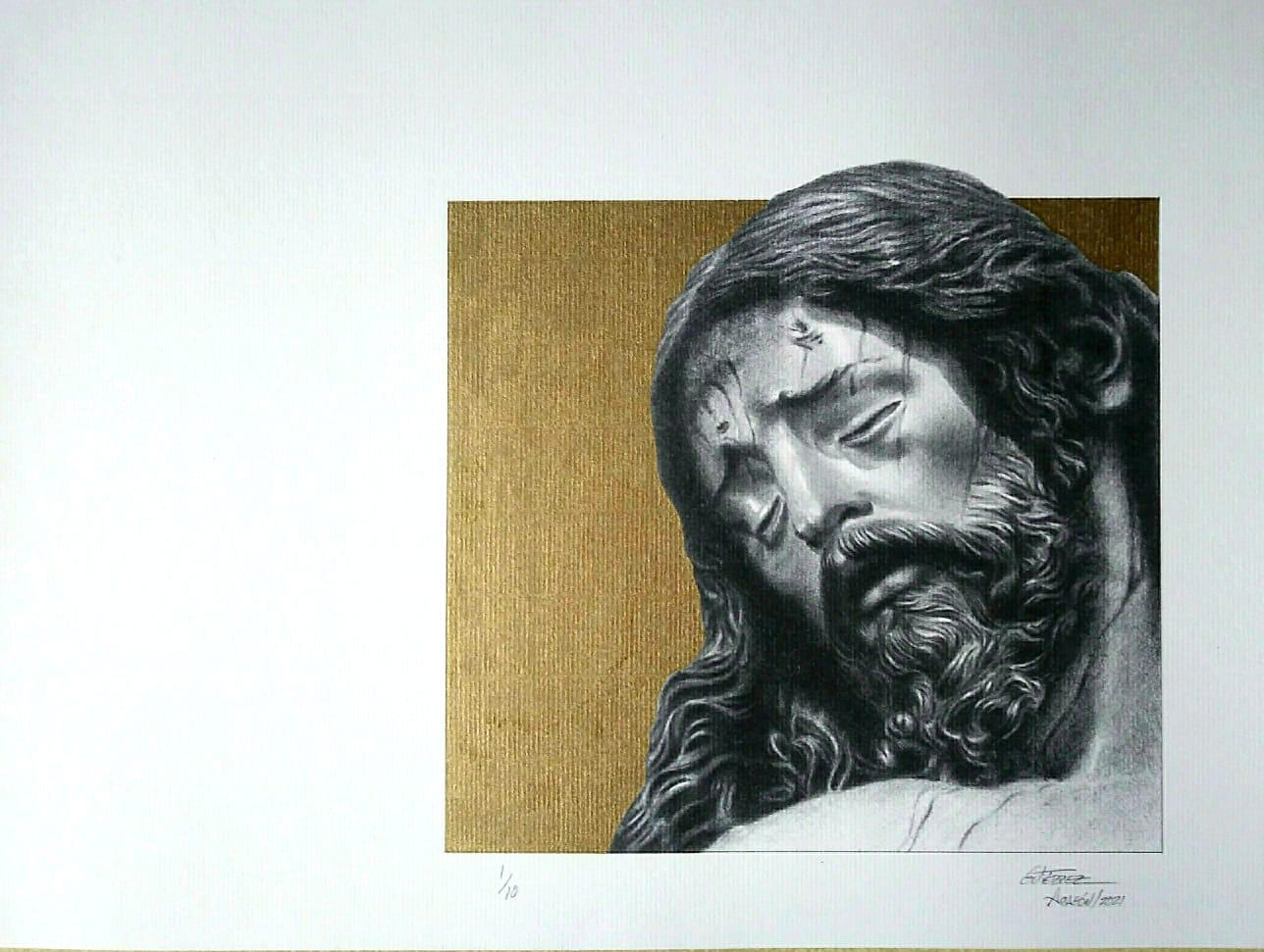 El Cristo de la Buena Muerte, nuevamente dibujado con maestría por Pepillo Gutiérrez Aragón