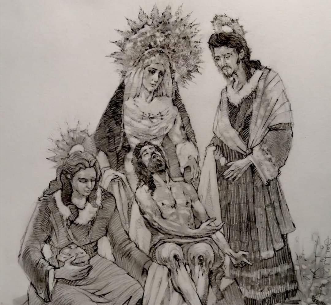Salvador Madroñal realizará las Imágenes secundarias de San Juan y la Magdalena para el misterio de la Vera Cruz de Arahal