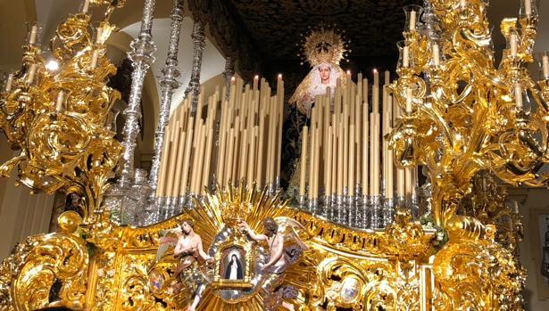 Todos los detalles de la salida extraordinaria de la Virgen de la Paloma de esta misma tarde