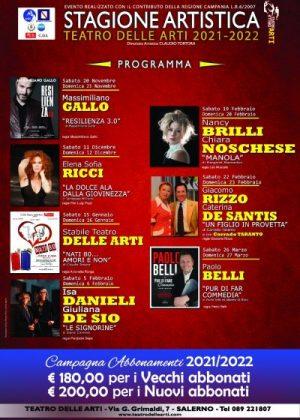 Il programma del Teatro delle Arti di Salerno
