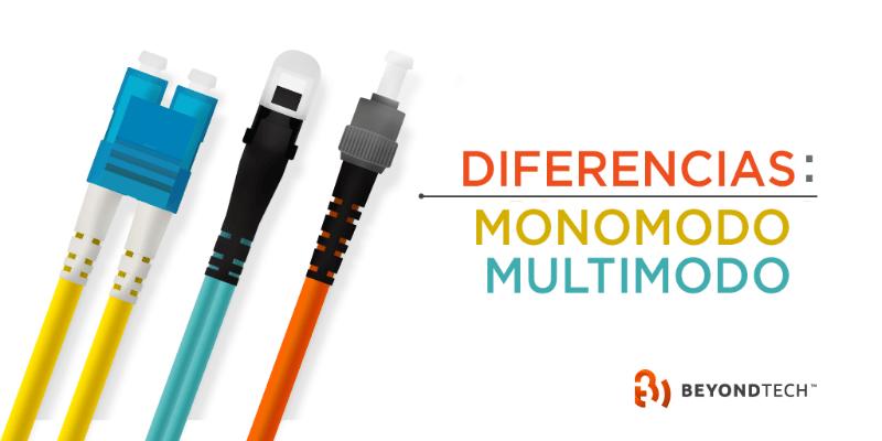 Diferencias entre cables de fibra óptica monomodo y multimodo