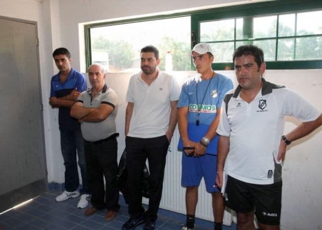 Σύσκεψη για τα τμήματα υποδομής παρουσία Πουλινάκη