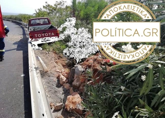 Ηράκλειο: Τροχαίο με εγκλωβισμό στον Καρτερό