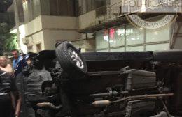 Ηράκλειο: Σοκαριστικό τροχαίο στην Σμπώκου – αμάξι αναποδογύρισε!