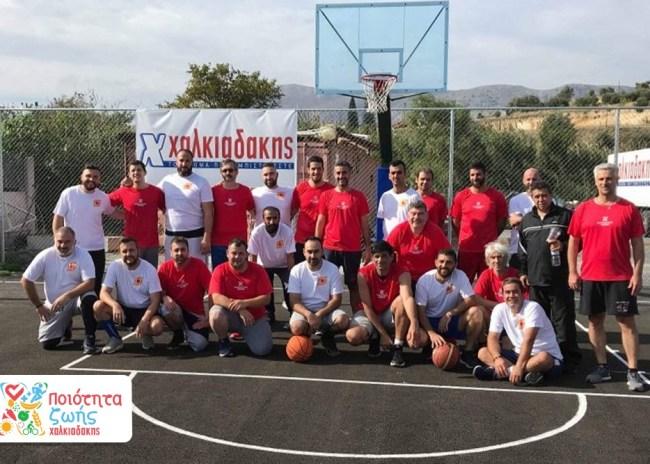 Pics   Εγκαινιάστηκε το γήπεδο μπάσκετ στις εγκαταστάσεις των S/M Χαλκιαδάκης