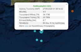Σεισμός 4,5 Ρίχτερ στην Κρήτη