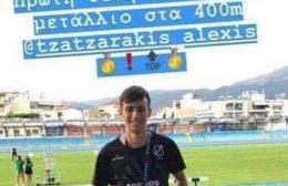 Χρυσό μετάλλιο στο Πανελλήνιο πρωτάθλημα Κ20 ο Τζατζαράκης