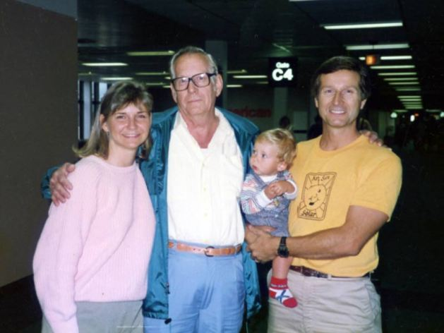 Me, Dad, my son Chris and my brother, John in 1989.