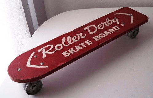 Vintage Roller Derby skateboard which is probably the same one I got.