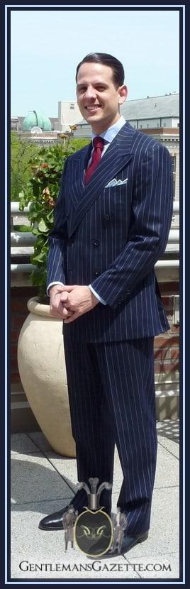 Ralph Lauren Purple Label Chalk Stripe suit