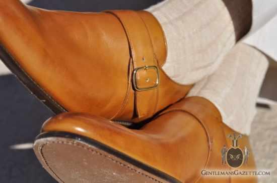 Herring Shoes Monk Shoe - burnished calf tan