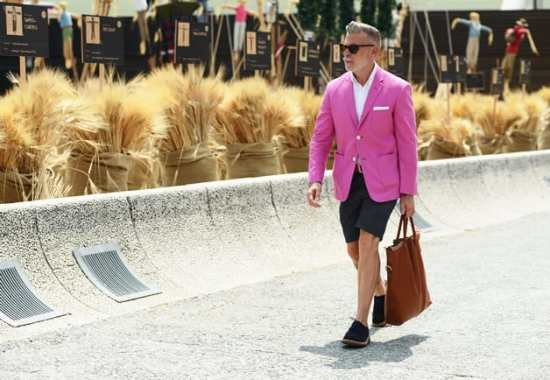 Pink Blazer, Shorts and Bag