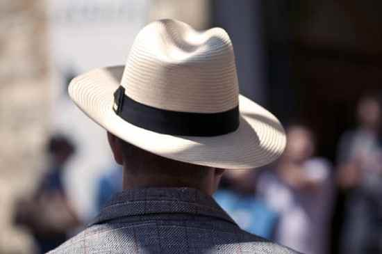 Panama Hat with Rakish Brim