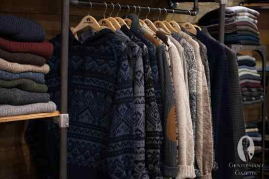 Nordic patterns wool sweaters