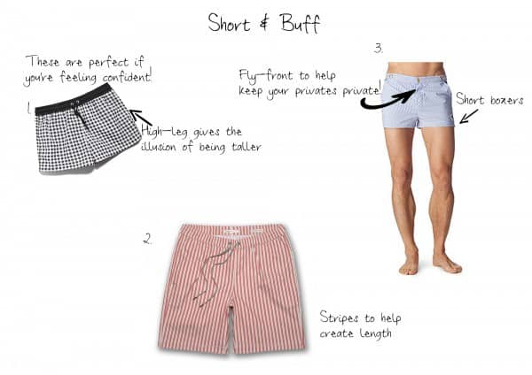 Short & Buff swim trunks