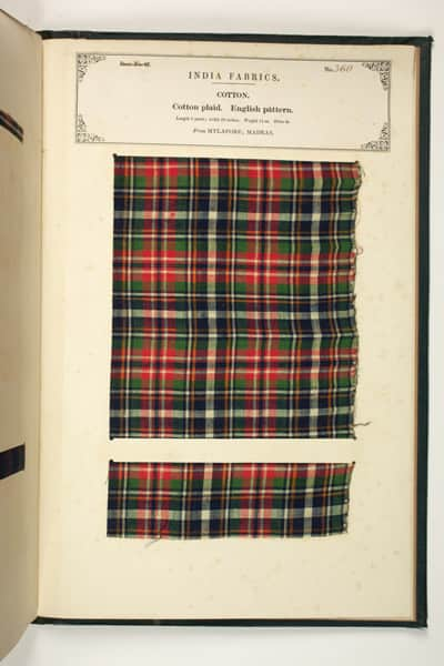 Tartan from 1866 - Harris Museum