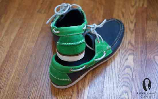 Hand sewn boat shoes by Eastland