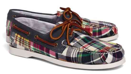 Madras Boat Shoes