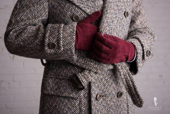 Sven Raphael Schneider's Tweed overcoat