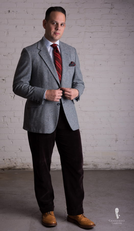 Gray Donegal Tweed jacket