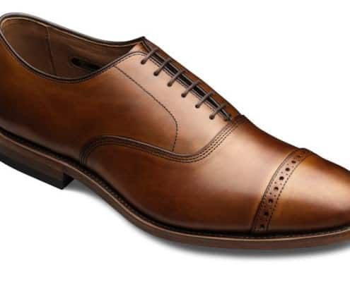 Allen Edmonds Fifth Aveune Cap Toe Oxford with Broguing on the toe cap