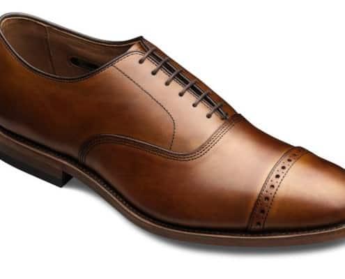 Allen Edmonds Fifth Aveune Cap Toe Oxford with Broguing on the toe cap