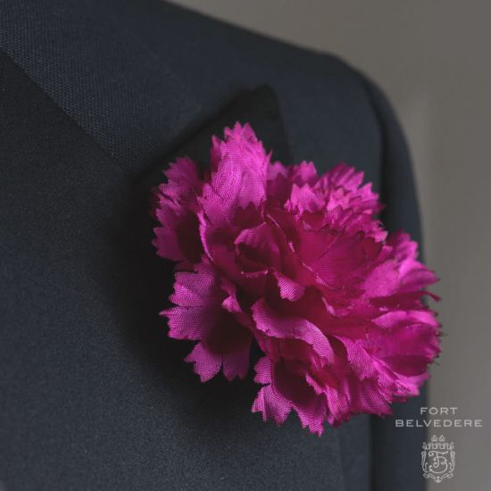 Purple Carnation Boutonniere - Fort Belvedere