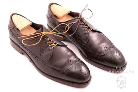 Allen Edmonds Derby Shoes with Orange Shoelaces by Fort Belvedere - Before & After