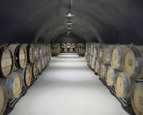 Red Wine ageing in barrels