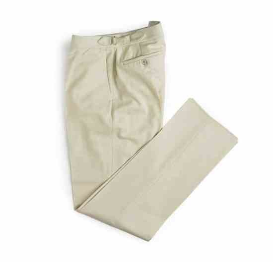 White Flannel Pants from Merchant Fox