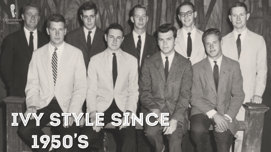 Ivy Style started to flourish in the 1950s