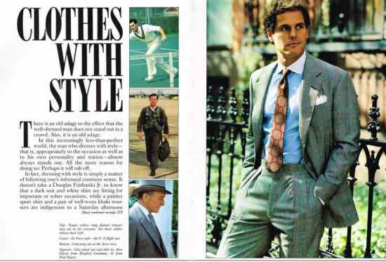 A prime example of classic trad style from a magazine