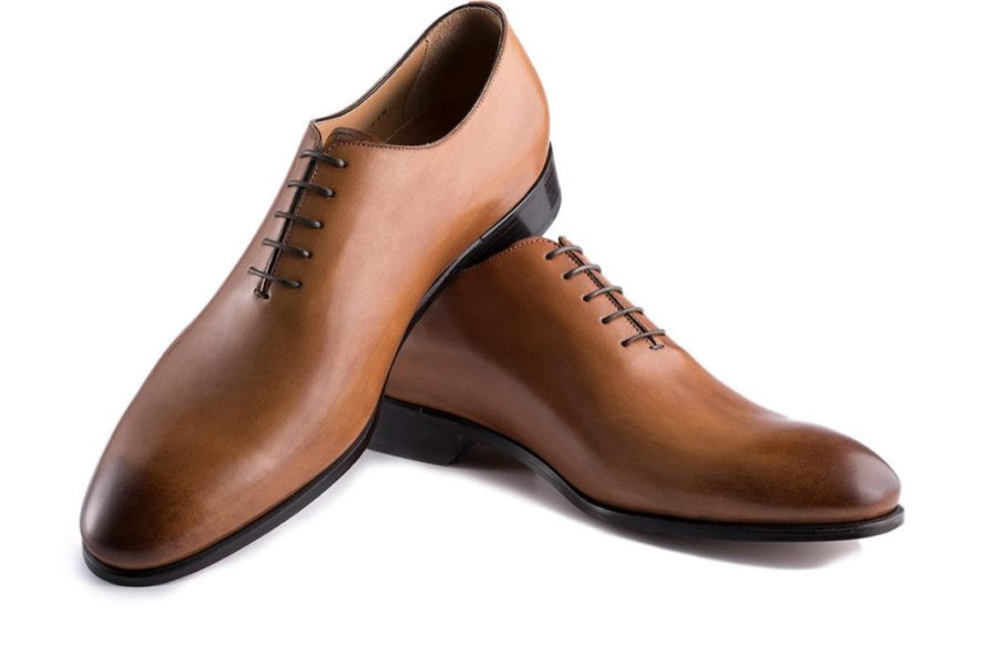 Wholecut in Antiqued Cognac Brown Leather on an elegant rounded last by Ace Marks