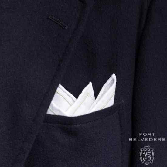 Embroidered Irish Linen Pocket Square by Fort Belvedere