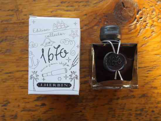 J Herbin Stormy Grey Fountain Pen Ink