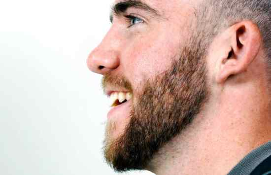 Dalton Gullo, 21, is growing out his beard as part of No Shave November.