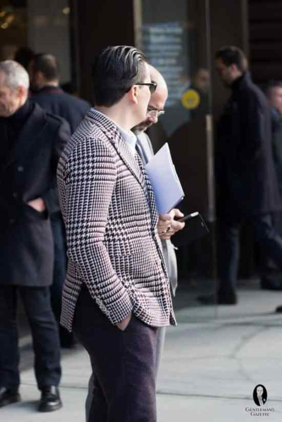 Bold sport coats are too much for business casual