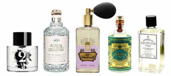 A selection of fine colognes